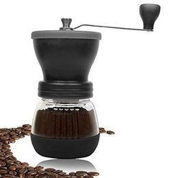 Wholesale Washable Food - manual coffee grinder Portable hand coffee maker Washable Manual burr coffee bean grinder machine Ceramic Core With cover
