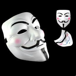 Wholesale Adult White Wedding Dress Costume - Party Masks V for Vendetta Masks Anonymous Guy Fawkes Fancy Dress Adult Costume Accessory Party Cosplay Masks