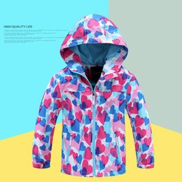 Wholesale Cheap Girls Winter Clothing - Children Hoodies Coat Girls Floral Printed Sweatshirts Waterproof Jacket Kids Autumn Winter Warm Cotton Outwear Clothing Cheap Free DHL 463