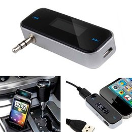 Wholesale Radios Music - Wireless Music to Car Radio FM Transmitter for 3.5mm MP3 for iPod Phones Tablets CAU_30E