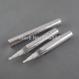 Wholesale Whitening Lip Gloss - Wholesale- 5ml silver cosmetic pen for lip gloss cream  mascara Eyelash growth liquid  teeth whitening tube or cosmetic pen