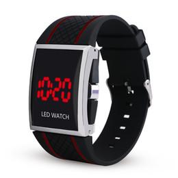 Wholesale Boys Black Dress Belt - Unisex Fashion Silicone Sport Digital LED Wrist Watch Day Date Silicone Belt Boys Girls Kid Digital Watch men women LED Wrist Watch