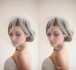 Wholesale Cheap Ivory Wedding Birdcage Veil - New Designer Popular Birdcage Veils Face Short White Wedding Veils Cheap Simple Elaborate Netting Bridal Veils with Bridal Accessories