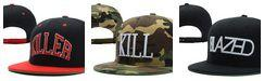 Wholesale Kill Snapback - Kill Brand Blazed Snapback Black red white top quality men and women sports colors good sale nice appearance popular amazing quality