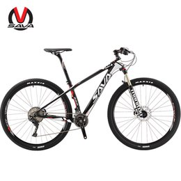 Wholesale Mtb Frame Carbon Fork - SAVA DECK700 Carbon Fiber MTB Mountain Bike 29 29er inches 22 Speed Bicycle Carbon frame SHIMAN0 DEORE XT M8000 manitou fork suspension mtb