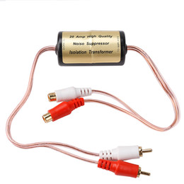 Wholesale High Quality Cds - New Electric High quality Noise suppressor Filter Install Car Audio Stereo Radio Amplifier Ground Loop Isolator transformer20Amp