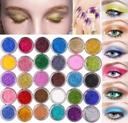 pigmentos cosméticos en polvo Rebajas 2017 Glitter Eyeshadow Powder Pigmento Glitter Mineral Spangle Sombra de Ojos Maquillaje Cosmético Set de larga duración 60 colores envío libre de DHL