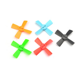 Wholesale Toy Aircraft Propellers - 10 Pairs 1.5 Inch 1535 CW CCW 4-blade Propeller 38mm Props For Mini Drone Brushless FPV Racer RC Toys Aircraft Quadcopter Drone F20216