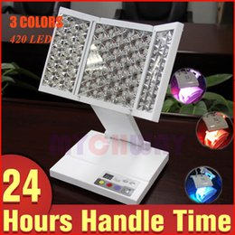 Wholesale Machine Photos - Hot Sell Personal PDT Photo Dynamic Therapy LED Beauty Light Machine For Facial Care Skin Rejuvenation Acne Removal 3 Colors LED Foldable