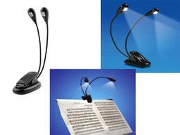 Wholesale Black Laptop Stand - Wholesale-Hot High quality Dual Arm 2 LED Flexible Stand Book Laptop Light Lamp For Pianos Orchestra Pit Schools Clubs