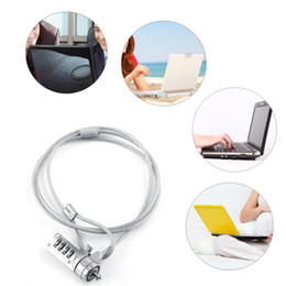 Wholesale Laptop Security - Laptop Combination Notebook Security Lock Cable Chain Theft Deterrent 4 Digit Password For Notebook PC