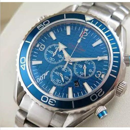 Wholesale high ocean - Luxury dive chronograph 007 blue Mens Watch Professional Planet Ocean Co-Axial Dive Wristwatch Men High-quality Six pointer male Watches