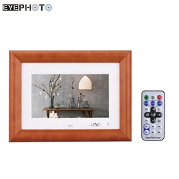 "Wholesale Picture Frame Book - Wholesale- Andoer 7"" LCD Digital Photo Frame Desktop Wood Picture Frame MP3 MP4 Movie Player E-book Calendar Clock with Remote Controller"