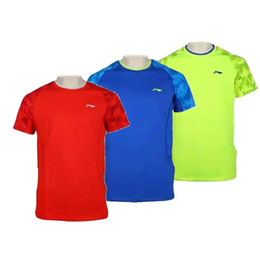 li ning badminton Coupons - Free shipping New women Li-Ning badminton t-shirts Jersey,ping pong camiseta Quick-drying Sport shirt Jersey,Lovers table tennis men shirts