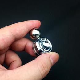 2019 reductor de metal Hot EDC juguete Orbiter mano Spinner Magnet Fidget metal magnético juguete juguetes para la descompresión ansiedad negro plateado con paquete al por menor