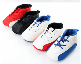 Wholesale Infant First Shoes - baby moccasins infant anti-slip PU Leather first walker soft soled Newborn 0-1 years Sneakers Branded Baby shoes Baby sports shoes