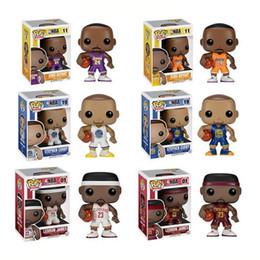 Wholesale Pop Figure Funko - Funko POP Basketball Sports Kobe Bryant Lebron James Stephen Curry 6 Type Super Star Player Vinyl Figure Collection Gift Toy