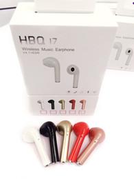Wholesale Bluetooth Headset Smartphone - HBQ I7 True Mini wireless Bluetooth Earbuds earphones single Headset For iPhone 7 Samsung AirPods xiaomi Smartphone