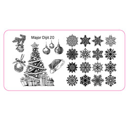 Wholesale Image Christmas Tree - Wholesale- Merry Xmas Nail Art Stamping Image Template Stencil Snow Flake Christmas Tree Polish Manicure Plate with Protector Dijit-20