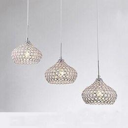 Candelabros modernos LED Lámpara colgante de bola de cristal K9 Lámpara de techo de cristal Luz de escalera de cristal Luz de gota Luces de araña Luces colgantes desde fabricantes