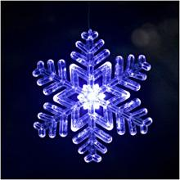 Wholesale Christmas Window Led Lights - LED Snowflake ornament Christmas lighted led festive window sucker Christmas novelty decoration