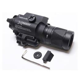 Новый SF X400v-ИК фонарик тактический светодиодный пистолет свет белый свет и ИК-выход с красным лазером отмечены версии черный от