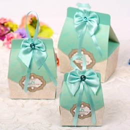 Wholesale Vintage Wedding Favors - Wedding Favor Candy Gifts Box 50PCS New Vintage New Wedding Favors Candy Holder Bags Wedding Party Gift Boxes