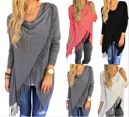 Wholesale Sexy Long Cardigans For Women - New Hot Women's Fringe Cardigan T-shirt Sexy Tank Tops for Women T shirts Tassel Women Clothes Dresses for Womens