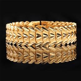 2019 bracelets en platine et or Amour Coeur Bracelet Bracelet Femmes Hommes Mode Bijoux Cadeau Platine / 18K Plaqué Or Haute Qualité Large Bracelets bracelets en platine et or pas cher