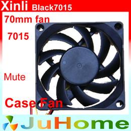 2019 cas silencieux Vente en gros - 70 mm, ventilateur 7 cm, ventilateur 7015, super silencieux, pour alimentation, pour ordinateur Refroidisseur de caisse, XinLi Black7015 promotion cas silencieux