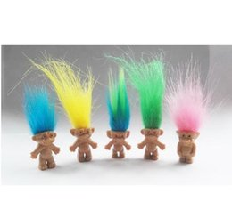 Wholesale Toy Trolls - 500pcs Hair Troll Family Members Daddy Mummy Baby Boys Girls Dam Anime Trolls Kids Toys for Children Birthday Gift