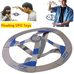 Wholesale Magic Ufo Floating Disk - New Arrival Novetly Toys Magic Tricks Floating Flying Disk Amazing Floating UFO Toys Magic Cool Trick Toy Assembled by yourself z087