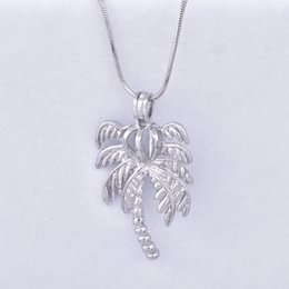 Wholesale Pearl Tree - new arrived coconut tree Pearl Cage Pendants Oyster Lockets For DIY Wish Love Pearl Pendant Necklace Jewelry Good Gift