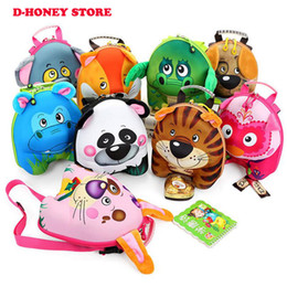 Wholesale Baby Shells - 2017 New Pressure Shell Shoulders Backpack 3D Cartoon Child Cute Animal Kindergarten Baby Bag Free Shipping