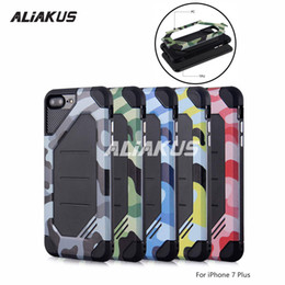 Wholesale I Phone Case Hybrid - For i phone 6 plus case 2 in 1 camouflage army painting hybrid TPU+PC soft case for samsung S8 S7 A7 J7 J120