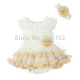 Wholesale Boys Dress Clothes 24 Months - Wholesale- New 2016 Girls Dress Summer Sleeveless lace Tutu Dresses with Headband 2 PC Baby Clothing Sets Cotton Infant Dress 0-24 month