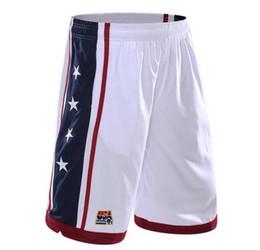 Wholesale Men Clothes Usa - USA Team Basket Shorts Men Jogger Elastic Waist Star Printed Basket Jogger Summer Clothing Bottoms Hot