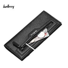 Wholesale Gentle Style - Baellerry Fashion Men Wallets Long PU Handbag Zipper Pocket Wallet Male Clutch Coin Purse For Gentle