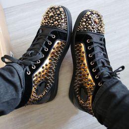 Perles de sport en Ligne-Boucles d'oreilles doré / perles / clous / baskets montantes, chaussures de sport pour hommes, chaussures de sport, décontracté, pied, taille de boîte originale: 35-47
