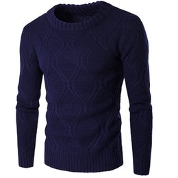 Wholesale Warm Sweater Size Xs - Wholesale- New Brand 2016 Fashion Men Warm Sweaters Casual Long Sleeve O Neck Knitted Sweater Pullovers Autumn Winter Knitwear Plus Size