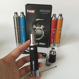 Wholesale Pen Technology - Authentic Yocan Evolve PLUS Kit 1100mAh Wax Pen Wax Vaporizer QDC Technology with Extra Coil Updated Version of Evolve Vaporizer Pen
