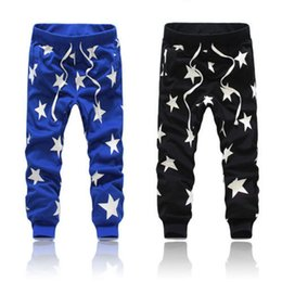 Wholesale Baggy Star Pants - Wholesale- Details about Men's Star Printing Hip Hop Sweat Pants Harem Dance Jogger Baggy Trousers Slack
