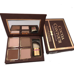 makeup factory cosmetics Promo Codes - Factory Sale Brand New Cosmetics Cocoa Contour Palette Face Contouring & Highlighting Kits Wholesale Natural Bronzer Shading Makeup Free DHL