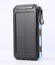 Wholesale Solar Charger Emergency Power Cell - Solar Charger Solar Power Bank 10000mAh Dual USB Solar Panel Charger with 2LED Light Carabiner Compass Portable for Emergency Outdoor Travel