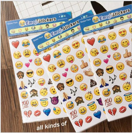 Wholesale Cute Android - Christmas gifts Emoji Stickers Pack iPhone iPad Android Phone Facebook Twitter Instagram Lovely Cute Facial DHL