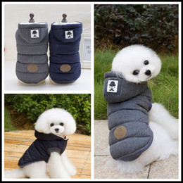Wholesale Chihuahua Winter Clothes - 2017 Newest Winter Pet Clothes Warm Puppy Dog Cotton Two-legs Coat Mustache Jacket for Chihuahua Yorkshire High Quality