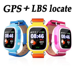 """Wholesale Gps Touch Screen Watch - 1.22""""Colorful Touch TFT screen Q90 Kids Smart Watch GPS+LBS+G-sensor Children Smart Watch Answer Call for iOS Android Alarm"""
