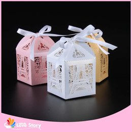 Wholesale party supplies eiffel tower decorations - Wholesale- 50pcs Eiffel Tower Laser Cut Candy Box Wedding Favor Box Party Favors Gift Box Wedding Decoration Party Supplies
