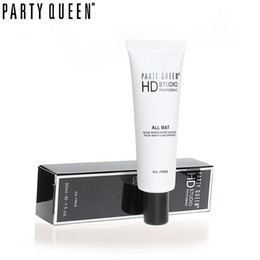 Wholesale Oil Queen Full - Wholesale-PARTY QUEEN Face Smooth Base Primer Foundation Brighten Dull Skin Correcting Pore Concealer Makeup Oil Free Matte Face Primer