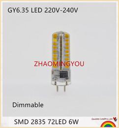 bombilla g6.35 Rebajas YON 10PCS Nueva GY6.35 lámparas LED de 220V 6W bombilla del maíz de la lámpara de Droplight 2835SMD G6.35 Led Bombillas Blanco / lámpara blanca cálida
